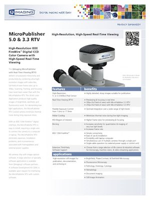 QImaging MicroPublisher 3.3 RTV non-cooled brossúra